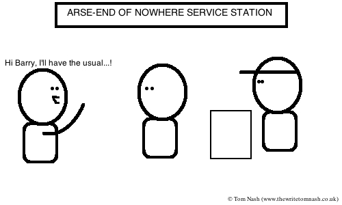 At the Service Station by Tom Nash